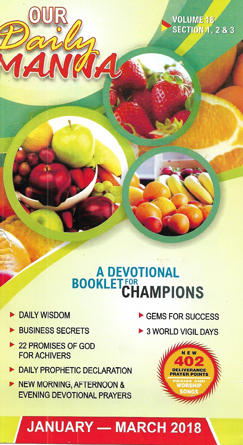 Our Daily Manna (ODM) Adult Edition January - March 2018 By Bishop Dr   Chris Kwakpovwe Login Credentials For Any Device