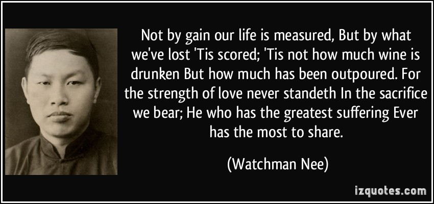 Watchman Nee and Witness Lee