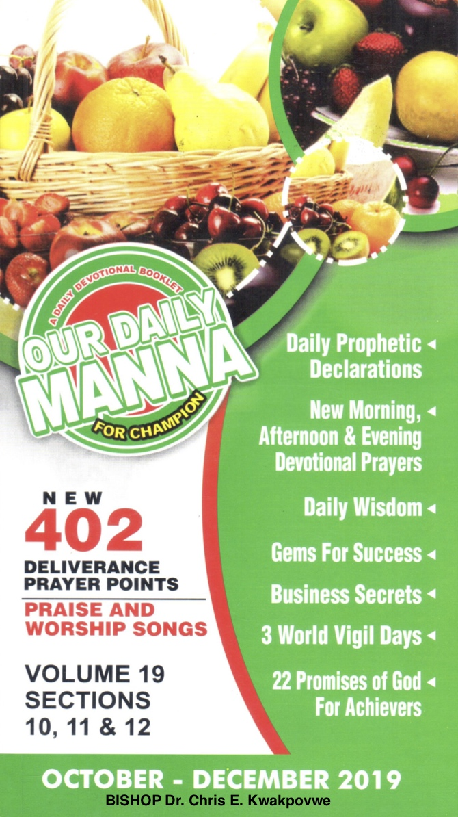 Our Daily Manna October December 2019 Bishop Dr. Chris Kwakpovwe